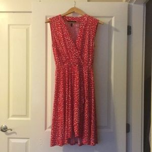 BCBG Red dress with white detail